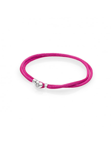 Pulsera Moments en cordón rosa para charms