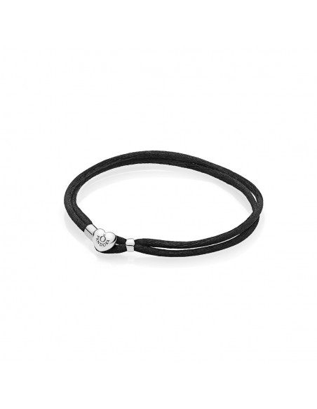 Pulsera Moments en cordón negro para charms