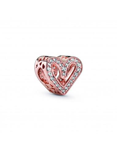 Charm PANDORA Rose Corazón Brillante