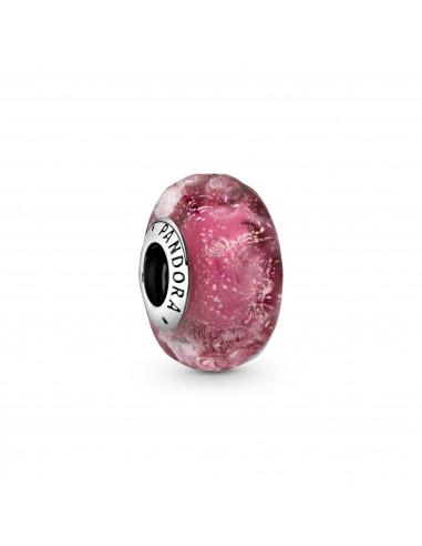 Charm de Cristal de Murano Rosa...