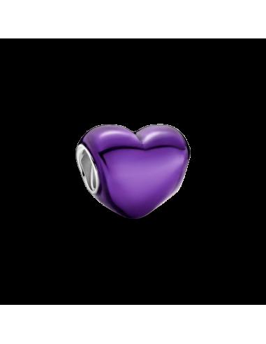 Charm Corazón Morado Metálico