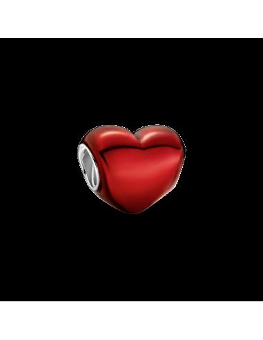 Charm Corazón Rojo Metálico