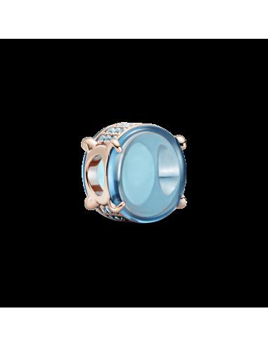 Charm Cabujón Ovalado Azul