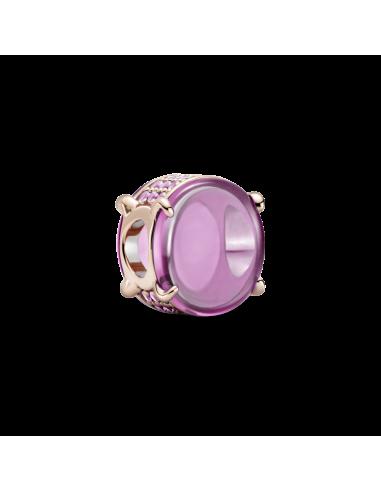 Charm Cabujón Ovalado Rosa