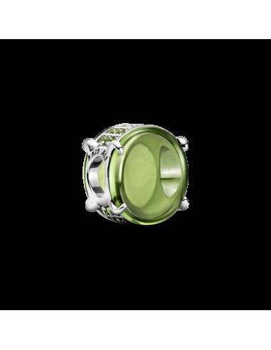 Charm Cabujón Ovalado Verde